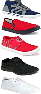 WORLD WEAR FOOTWEAR Sports Running Shoes/Casual/Sneakers/Loafers Shoes for MenMulticolors (Combo-(5)-1219-1221-1140-749-114)