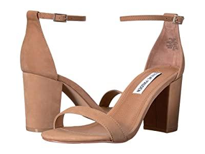 Steve Madden Exclusive Declair Block Heeled Sandal (Camel Nubuck) High Heels