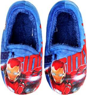Slippers Marvel Avengers Iron Man Flash Beam Boys Warm Indoor Blue Black Shoes