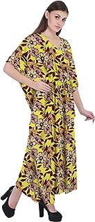 RADANYA Floral Women Bathing Suits Cover Up Cotton Kaftan Beach Maxi Dress Caftan