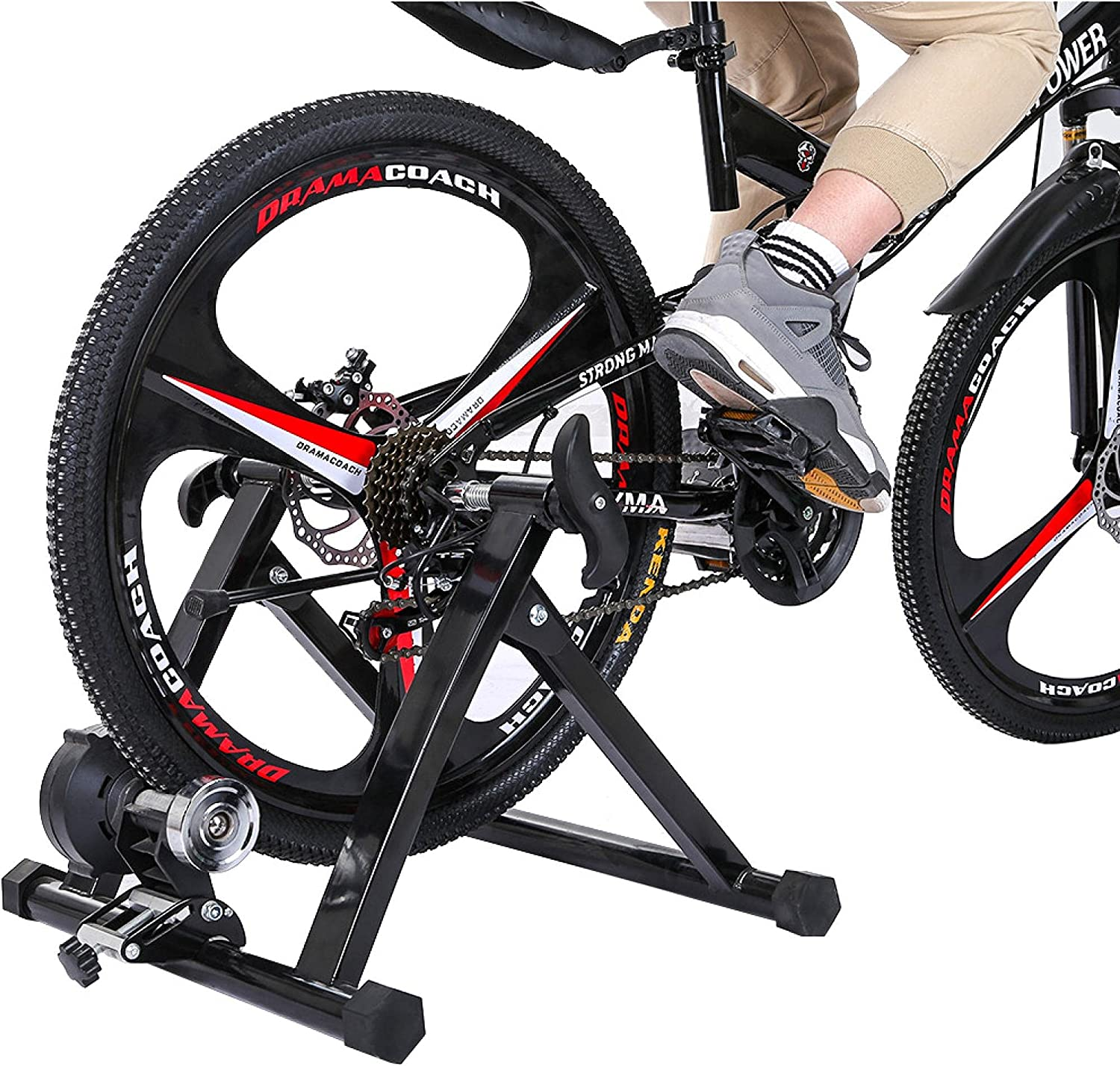 Bike Trainer Stand Charlotte Mall Magnetic Bargain sale Stationary Wire Controlled Bicycle