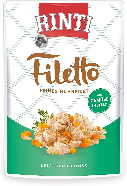 Rinti Filetto - Filetes de Pollo con Verduras en gelatina, 24 Unidades (24 x 100 g)
