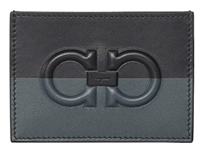 Salvatore Ferragamo Firenze Logo Card Holder 66A469 (Black 2) Handbags