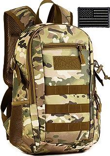 BlesMaller Pequeña mochila táctica escolar militar Daypack Army Assault Pack Bug Out bolsa Ciclismo Senderismo Camping mochila (parche incluido)