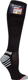 Women's Travel Security Socks with Zip Pocket for Passport, ID