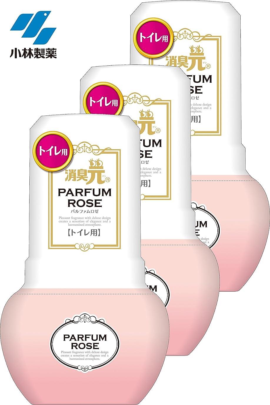 コンプリート拮抗する他に【まとめ買い】トイレの消臭元 消臭芳香剤 トイレ用 パルファムロゼ 400ml×3個