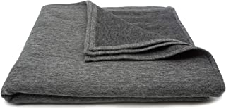 State Cashmere Reversible Two Tone Throw Blanket Merino Wool Cashmere Soft and Warm Accent Bed Spread • 60 x 50 Inches