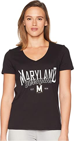 Maryland Terrapins University V-Neck Tee