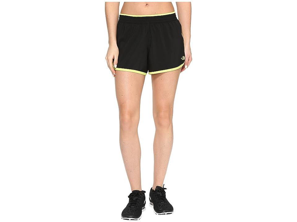 The North Face Reflex Core Shorts (TNF Black/Wild Lime (Prior Season)) Women