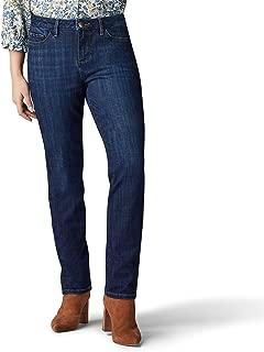 Lee Womens 34111P Petite Secretly Shapes Regular Fit Straight Leg Jean Jeans