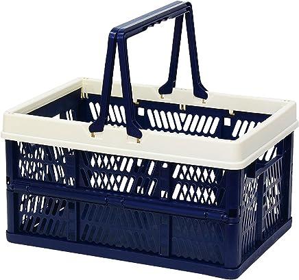 折叠 堆叠 容器盒 藏青色 Large 400730005