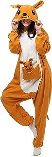 VU ROUL Unisex Australia Animal Kangaroo Onesie Adult Pajamas Orange