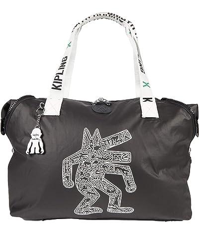 Kipling Keith Haring Art M Tote (Khaki/Chalk Art) Handbags