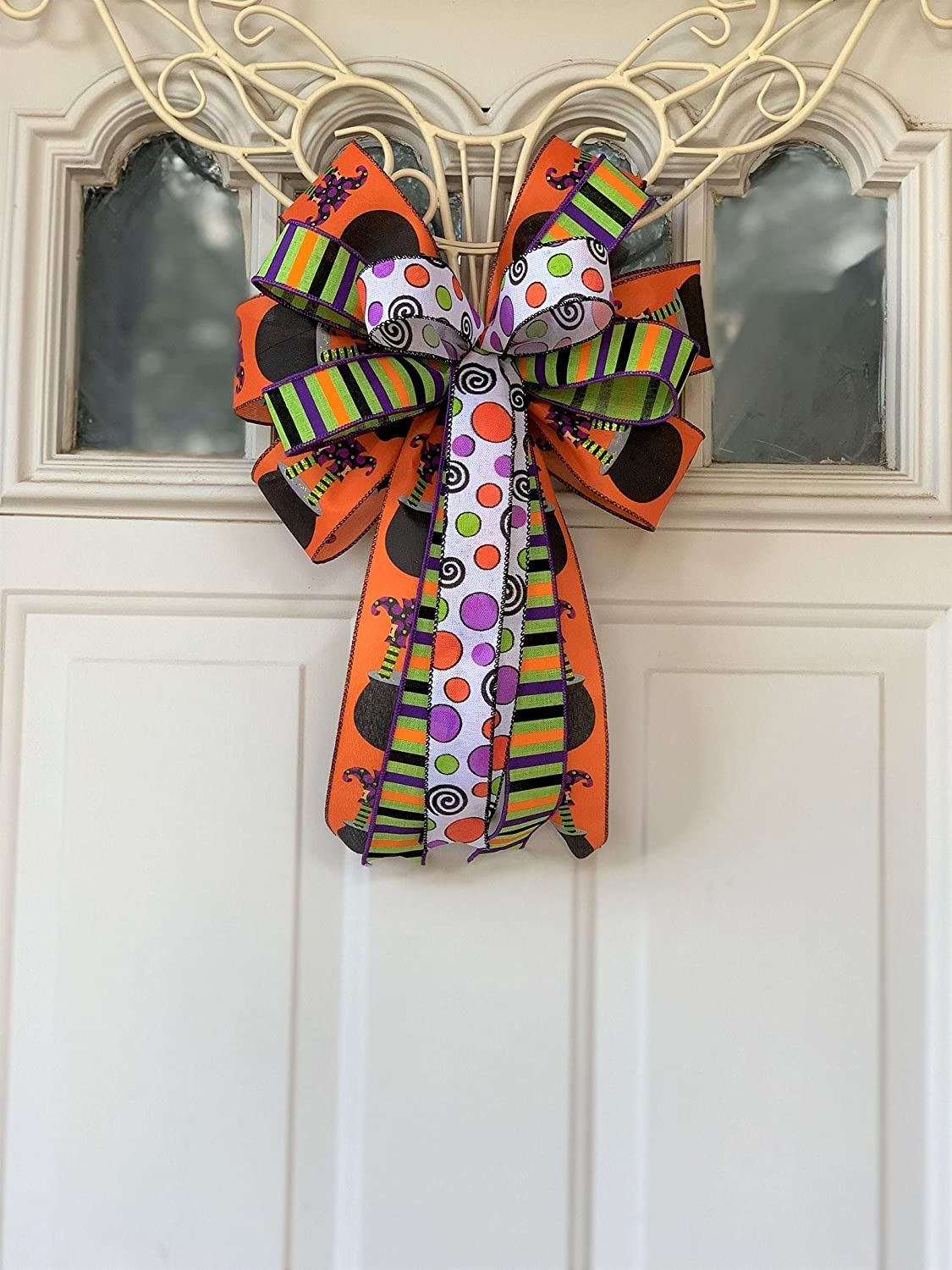 Halloween Bow for Wreath Lanter Super intense SALE Cauldron Fort Worth Mall Witches