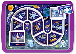 Fred DINNER WINNER Kid's Dinner Tray, Outer Space (Outer Space)