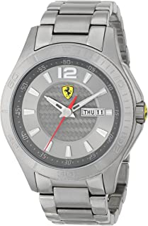 Ferrari Men's 0830106 Analog Display Japanese Quartz Grey Watch
