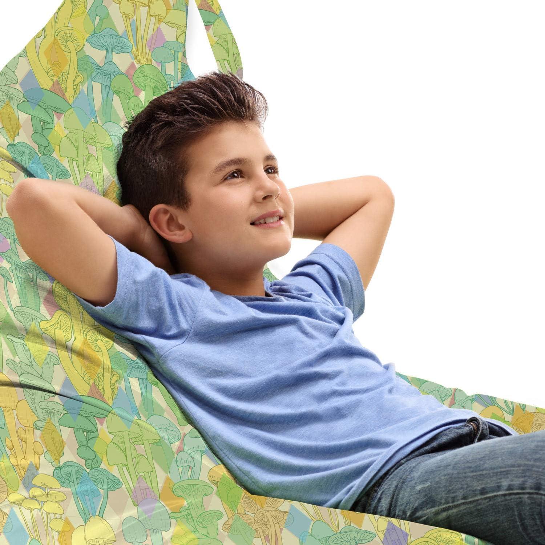 Safety and trust Lunarable Mushroom Lounger Chair Bag Che Retro Tulsa Mall Inspired Diamond