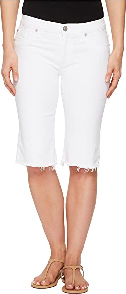 Hudson Amelia Cut Off Knee Shorts in Optical White