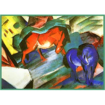 Orenco Originals Sketch 2 Blue Horse Foals Franz Marc Counted Cross Stitch Pattern