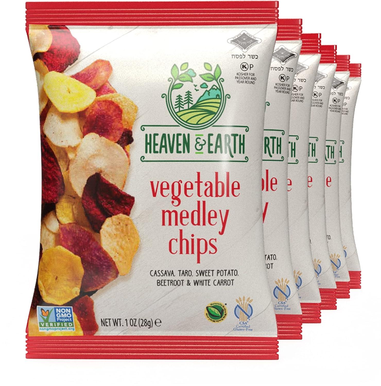 Heaven New mail order Earth Veggie Chips Vegetable Medley 1oz Popular popular 6 Pack
