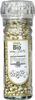 Cecil Bio - Pimienta blanca natural con molinillo, 70 g (pack de 4)
