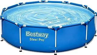 Bestway Steel Pro Framepool ohne Pumpe, rund, 305 x 76 cm Piscina, Azul