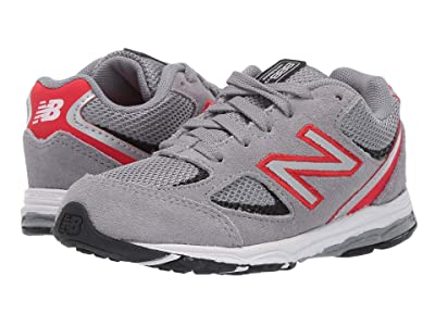 New Balance Kids 888v2 (Infant/Toddler) (Steel/Velocity Red) Boys Shoes