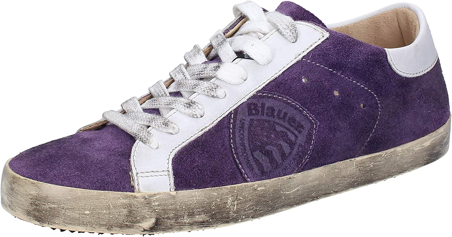 blueer Fashion-Sneakers Mens Suede Purple