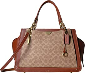 ba8ebe890d3 COACH Coated Canvas Signature Bond Bag at Zappos.com