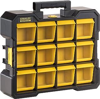 Stanley Fmst81077-1 Organiseur Flip Bin Gamme FatMax® Large Base - Godets Basculables Et Amovibles - Couvercles Transparen...