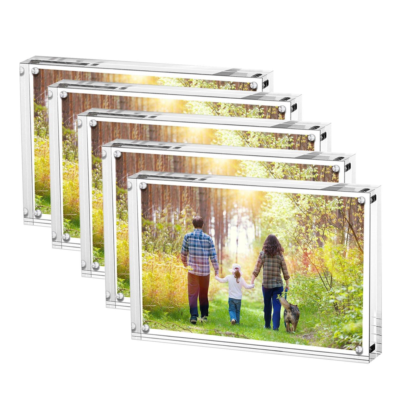 Boxalls Marcos de Foto Acrílicos, 13x18CM Acrílico Transparente Marco Foto en Cristal Personalizado (10+10 mm de Espesor), Regalo de Cumpleaños y Vacaciones (13 x 18 CM Paquete de 5): Amazon.es: Hogar