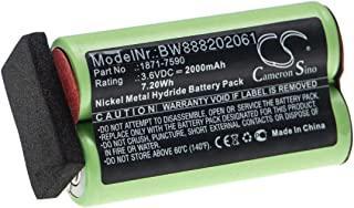 vhbw Accu compatibel met Moser ChromStyle 1871, Super Cordless 1872 tondeuse (2000 mAh, 3,6 V, NiMH)