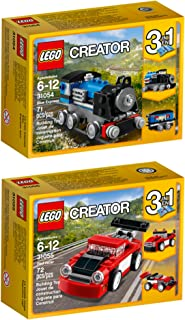 LEGO Creator Blue Express Red Racer Building Kit Bundle (143 Piece)