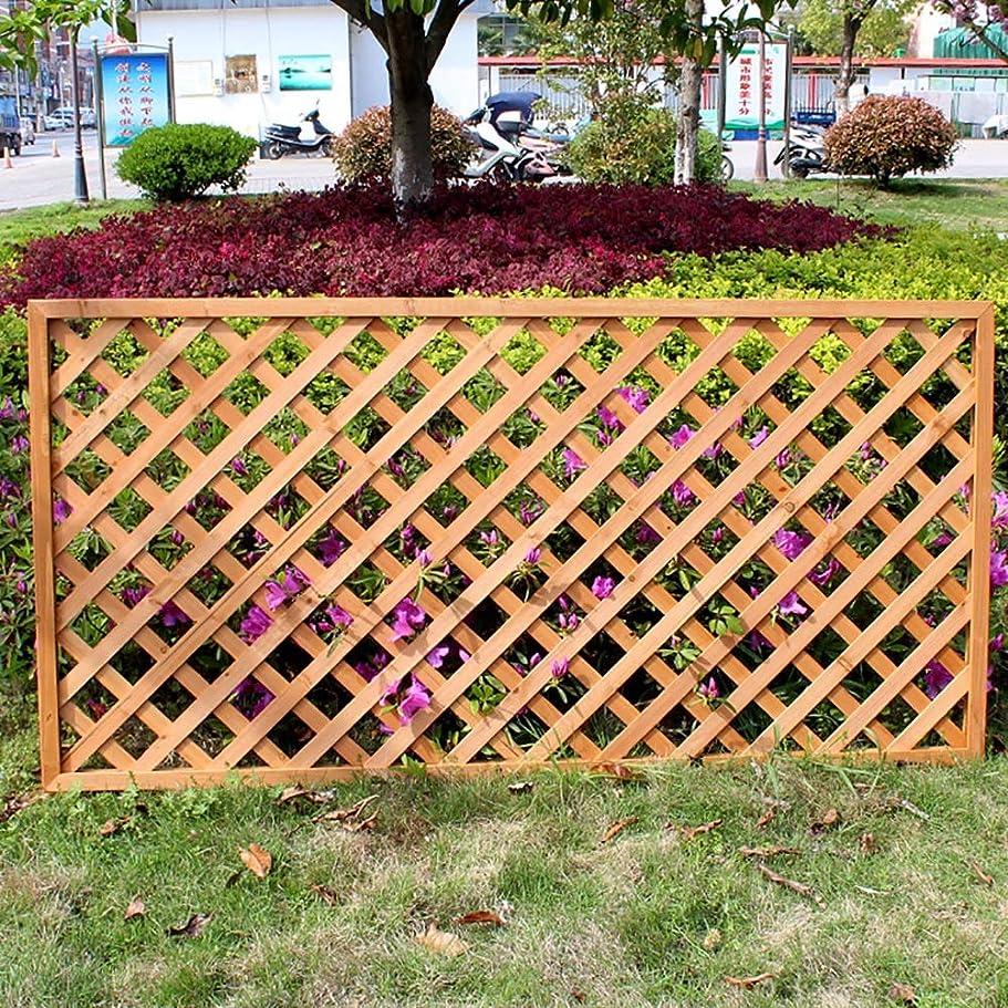 SUBBYE 庭のグリッドフェンス屋外ピケットフェンス壁の装飾、自立木植物Palisades花壇の植物の成長、オレンジ、3サイズを登る (Color : 90×30cm)