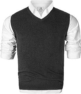 comprar comparacion Jersey Sin Mangas con Cuello en V Chaleco Prendas de Punto Chaleco Suéter Caballero para Hombre