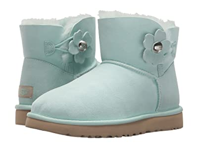 UGG Mini Bailey Button Poppy (Aqua) Women