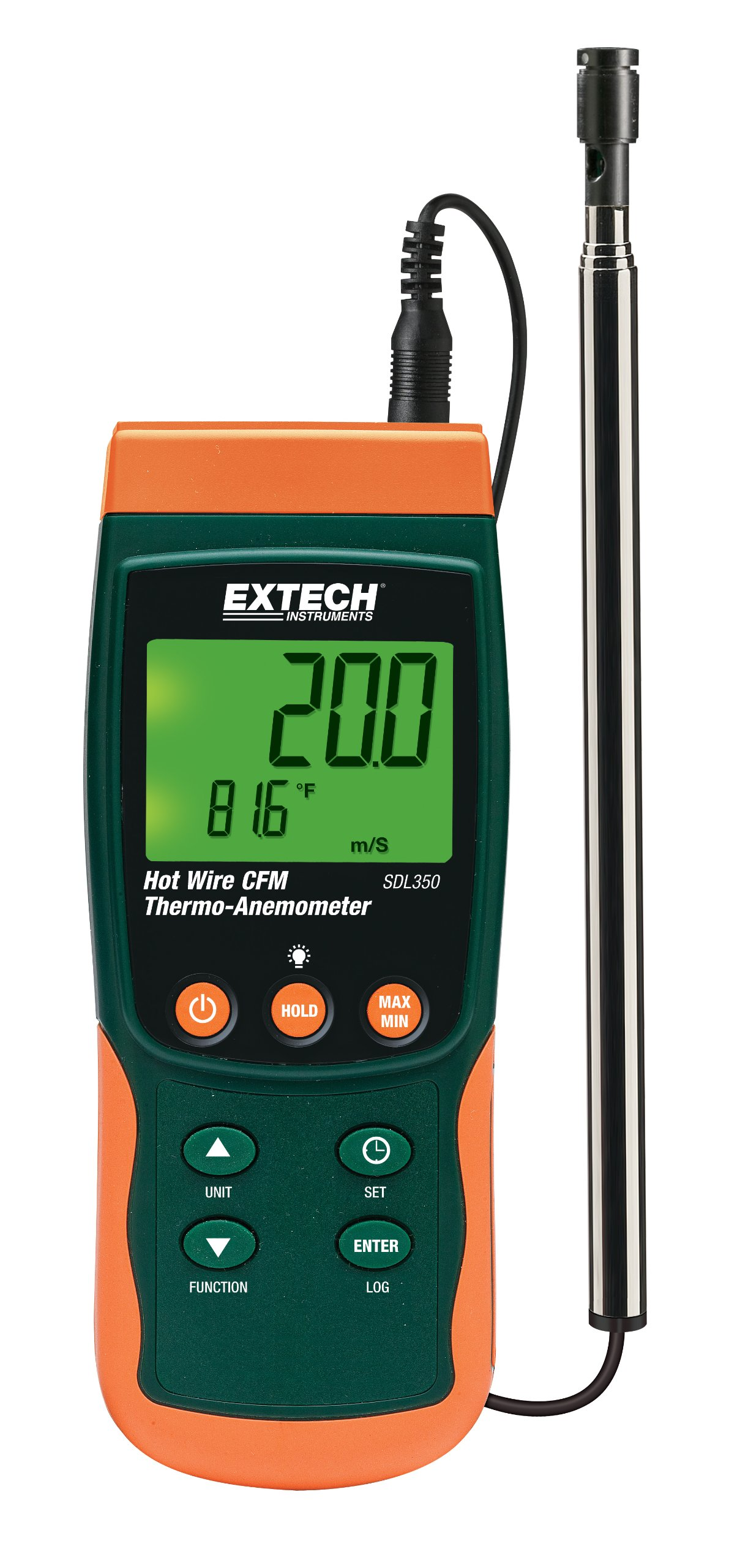 Extech SDL350 Wire Thermo Anemometer Datalogger