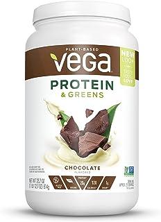Vega Protein & Greens Chocolate (25 Servings, 28.7 Oz) - Plant Based Protein Powder, Gluten Free, Non Dairy, Vegan, Non Soy, Non GMO, Lactose Free