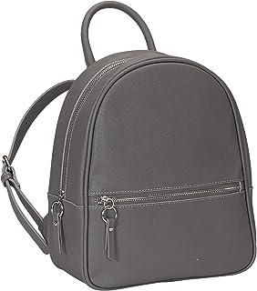 SIX Kunstleder-Rucksack in klassischem Design schwarz, Leder-Optik (539-456)