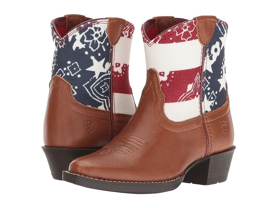 Ariat Kids July Yukon (Toodler/Little Kid/Big Kid) (Brown/Patriotic Print) Cowboy Boots