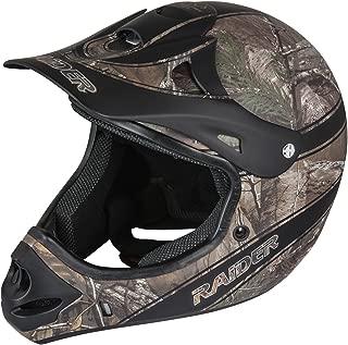 Raider Adult Ambush MX Off-Road Camouflage Helmet (Realtree Xtra, Medium)