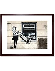 Banksy Robot Arm Girl Graffiti Street Art Framed Wall Art Print バンクシー女の子落書き通り壁