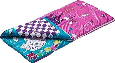 Pillow Pets Pink Unicorn SlumberPlay Sleeping Bag with 15 Interactive Games Printed on Bag