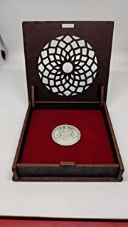 Jmbox Wood Handcrafted Gold/Silver Coin Shagun Box (Without Coin)