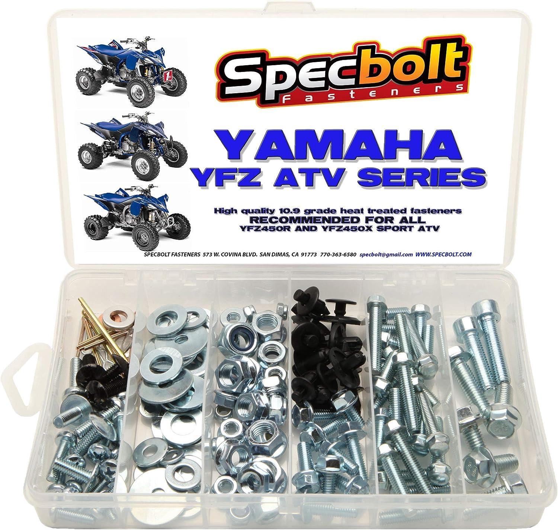 120pc Specbolt Bolt Kit Fits: Yamaha for ATV 450 Main Bombing new work YFZ YFZ450 Price reduction