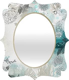Deny Designs Iveta Abolina Seafoam Quatrefoil Mirror, 28 x 23