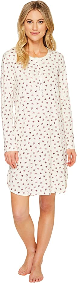 LAUREN Ralph Lauren Rib Henley Sleepshirt