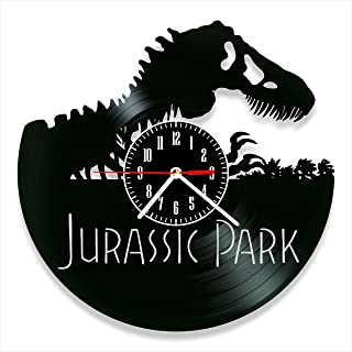 YYIFAN Vinyl Wall Clock Dinosaur Paradise Art Decor Home Classic Clock, Gift Ideas for Kids and Teens, Modern Creative Dig...