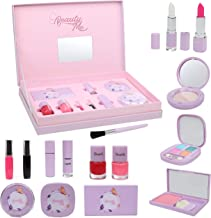 DRESS 2 PLAY Pretend Princess Make Up Kit - 10 Pc Toy Makeup Playset for Toddlers and Girls - Comes with a Purple Cosmetic...