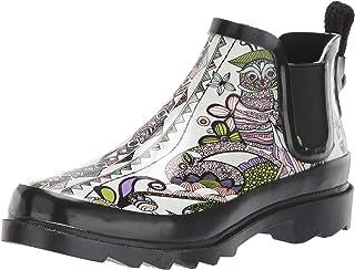 حذاء المطر ذو الرقبة الطويلة للكاحل من The SAK Women's Sakroots Rhyme Ankle Rainboot ، Pastel spirit Desert, 7 Medium US